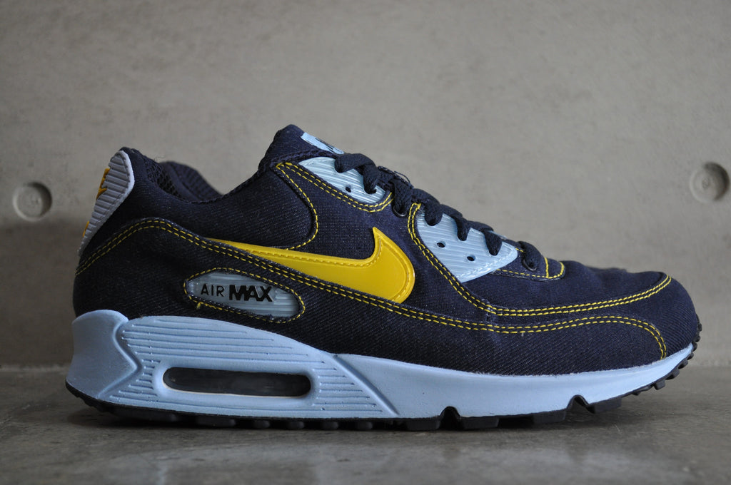 watch 60f68 a48b0 ... classic obsidian blue denim ... Nike Womens Air Max 90 ...