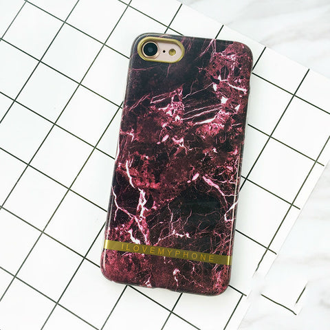 Nørring & Vester - Marmor Cover - Red - I Love My Phone