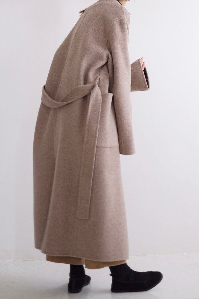 HARPER COLLARLESS COAT