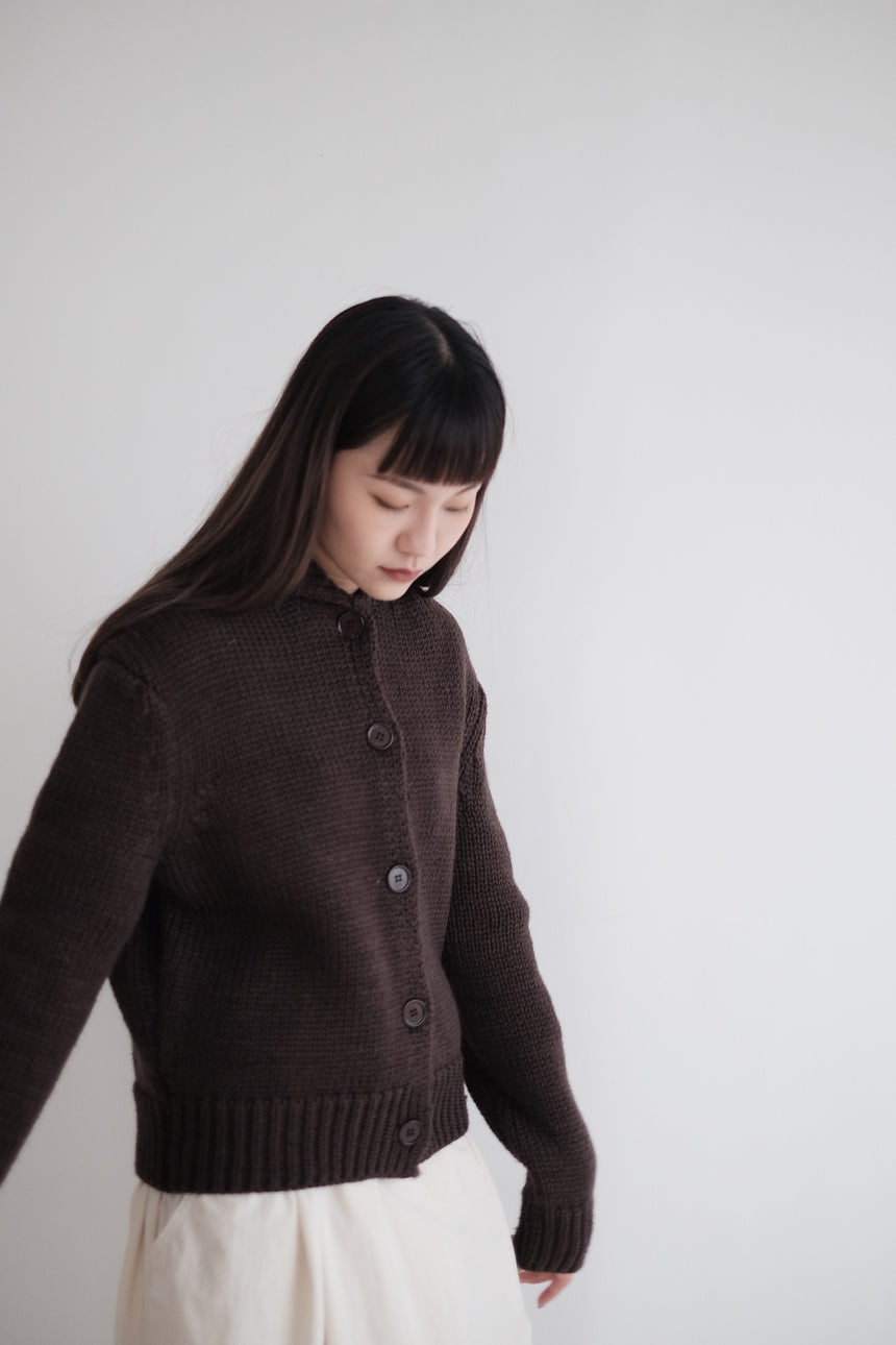 TONDE BURIN KNITTED JACKET (Brown)