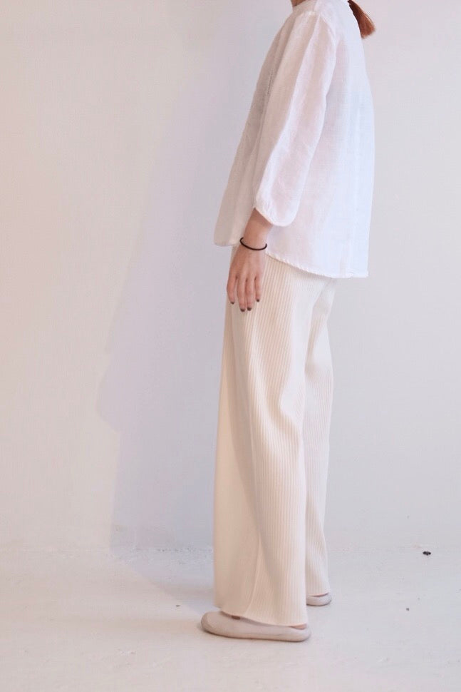 Cotton Stripe Flared Trouser    *My Pick