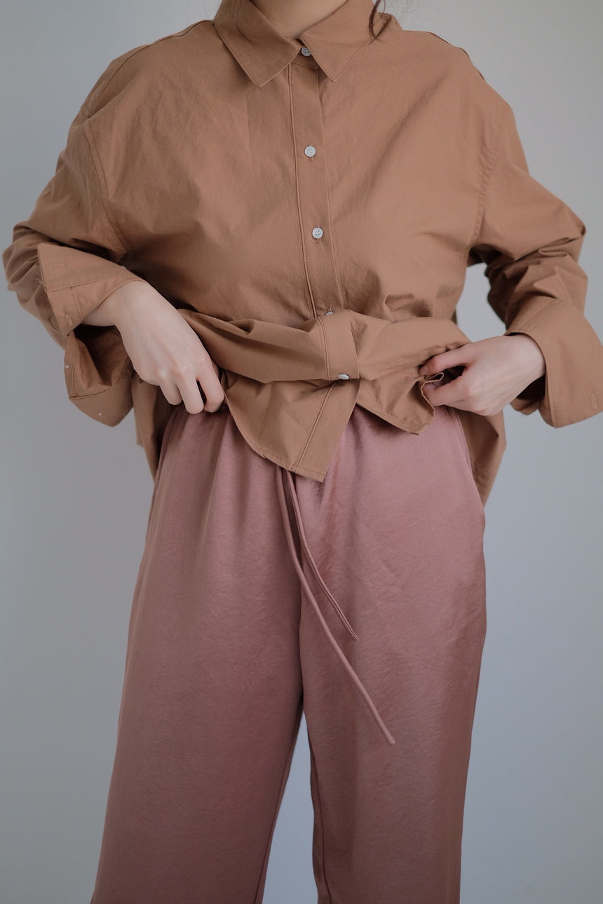 Brown Silky Trouser