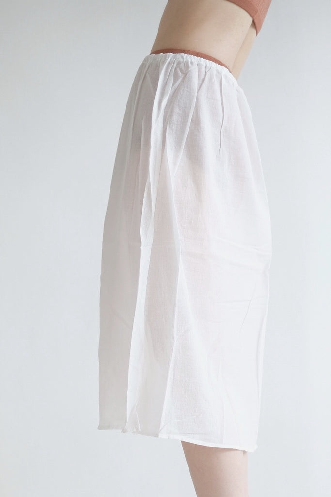 A-LINE COTTON SKIRT