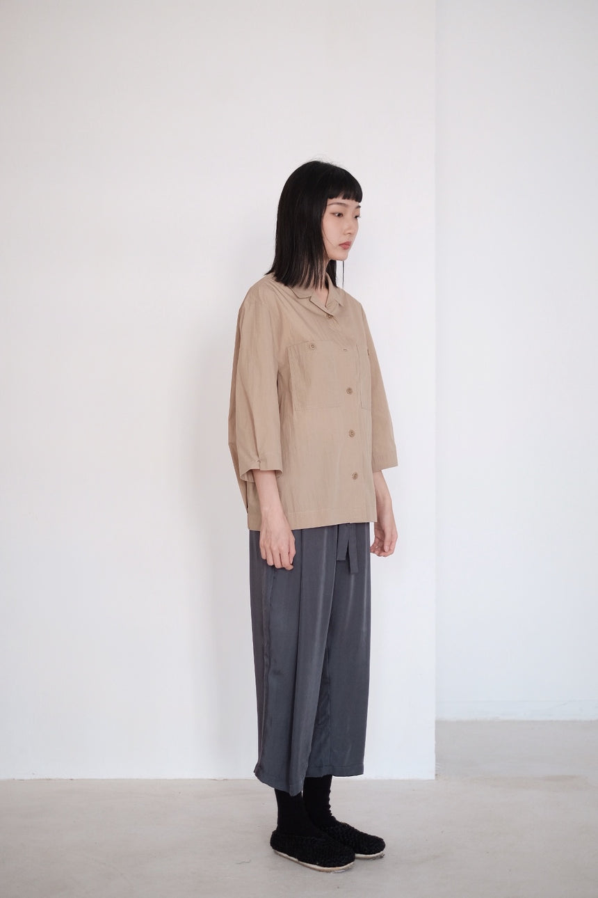DRAPED WIDE-FIT SHIRT