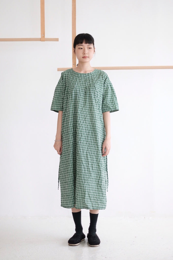 JOLLY CHECKERED DRESS II /green