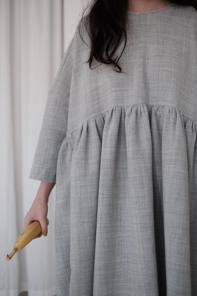 SNOW GREY MIA DRESS (PRE-ORDER)