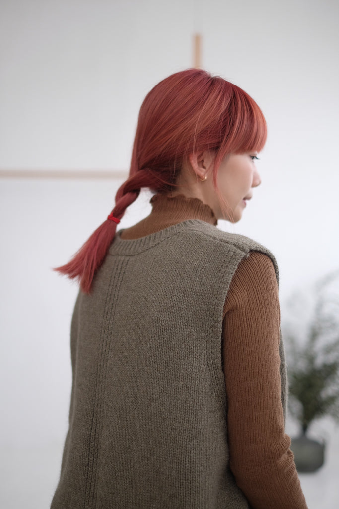 PIPER UNBALANCED KNIT VEST