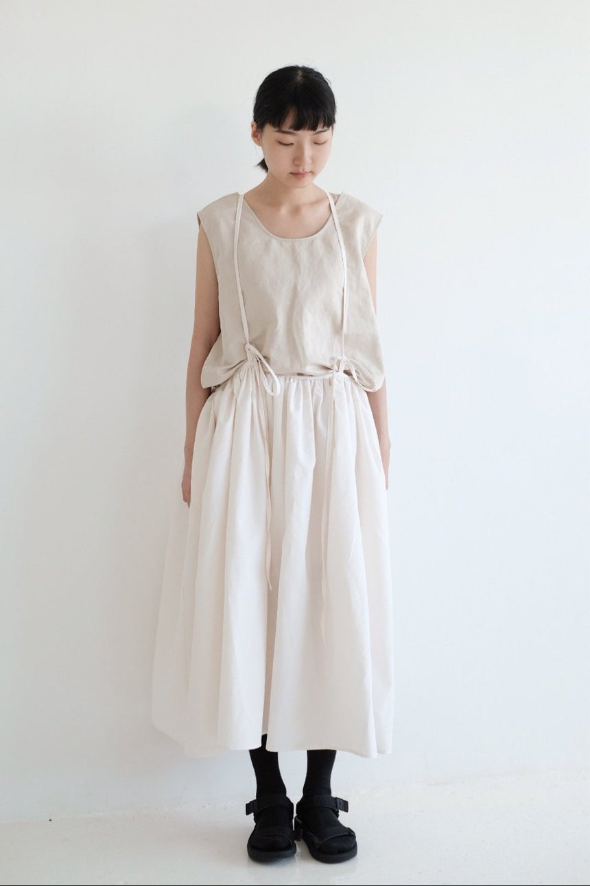 LUNA SKIRT WITH NARROW STRAPS
