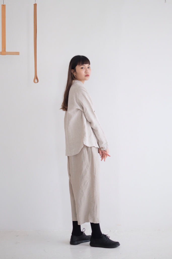 HEAVENLY LINEN SHIRT ( beige )