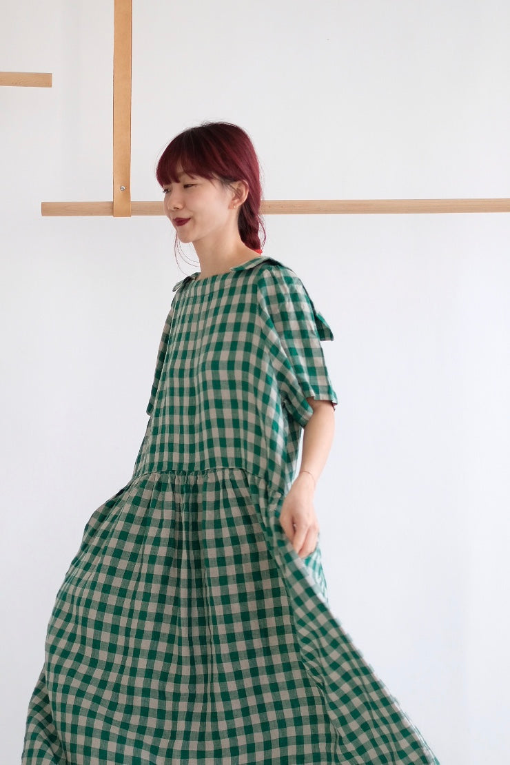 JOLLY CHECKERED DRESS /green (highly recommend)