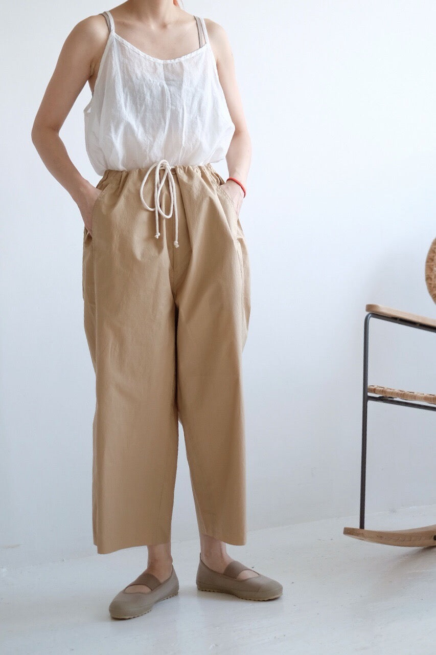 WAIST-DETAILED PAPERBAG TROUSERS