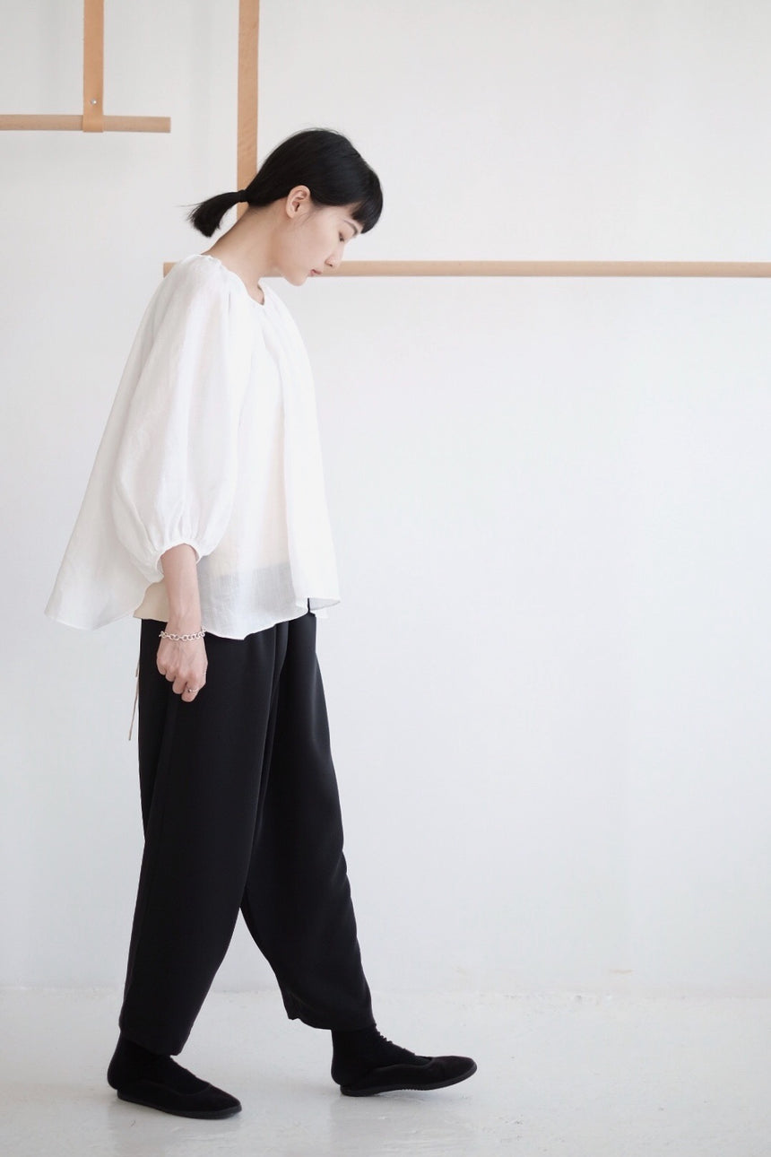 HELLO MY BEAUTIFUL BUBBLE LINEN BLOUSE