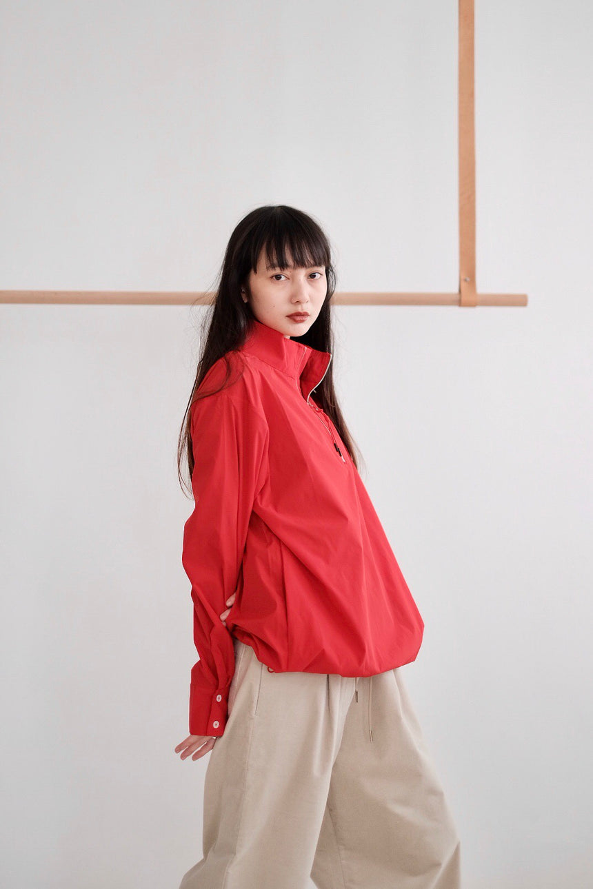 RED POCKET OVERSIZED SHIRT