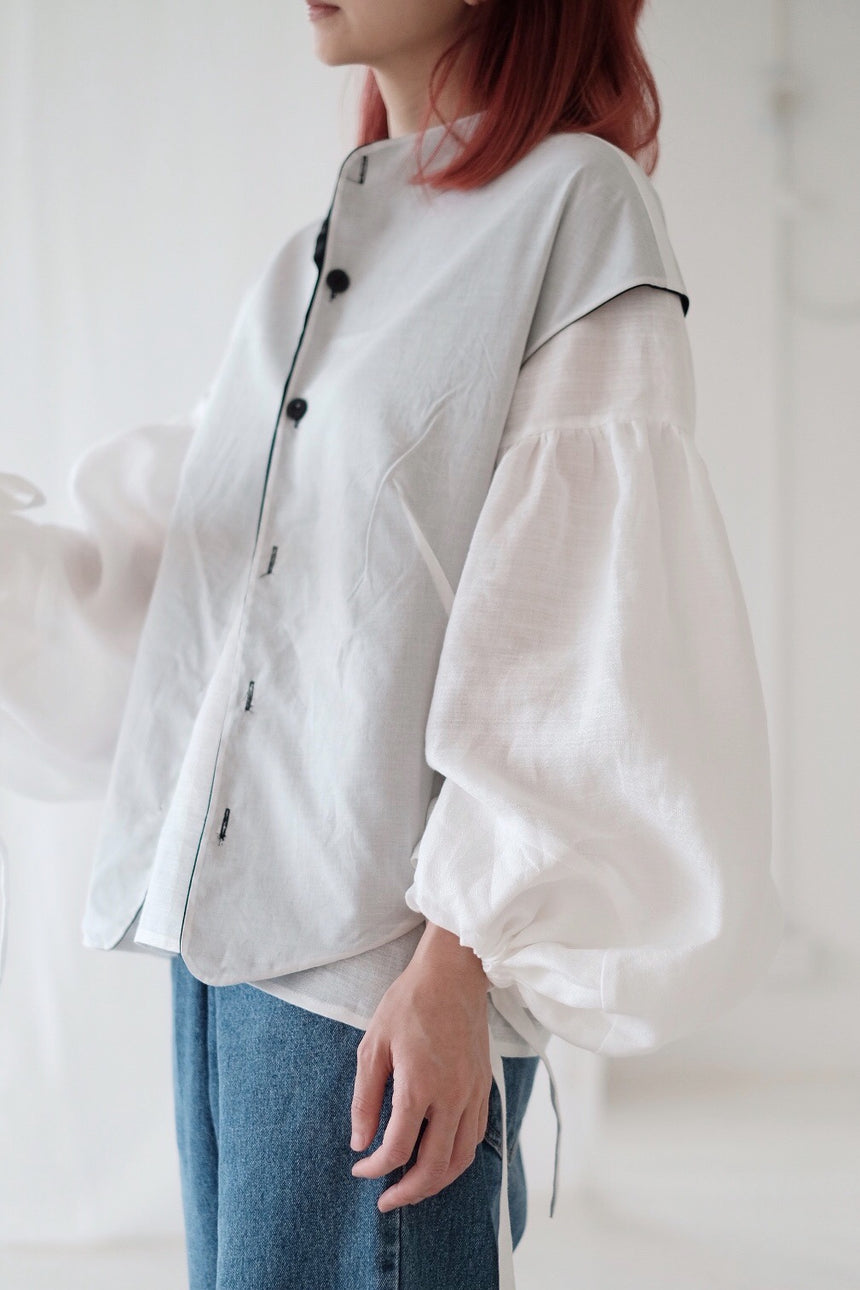 BUBBLE LINEN JONA BLOUSE