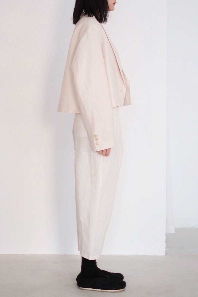 RELAXED COTTON TROUSERS WITH STRAIGHT SEAM