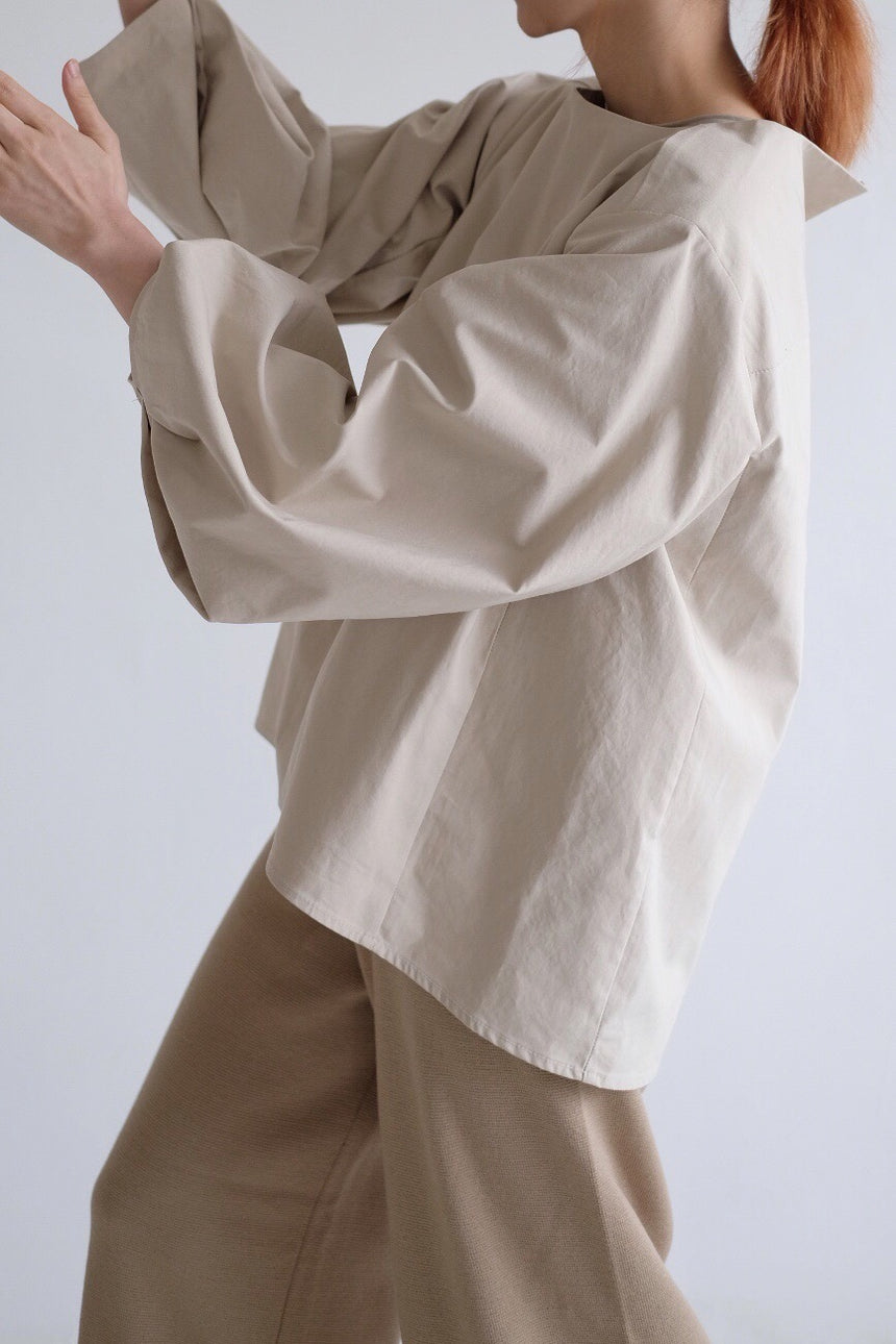 Beige Bubble Shirt