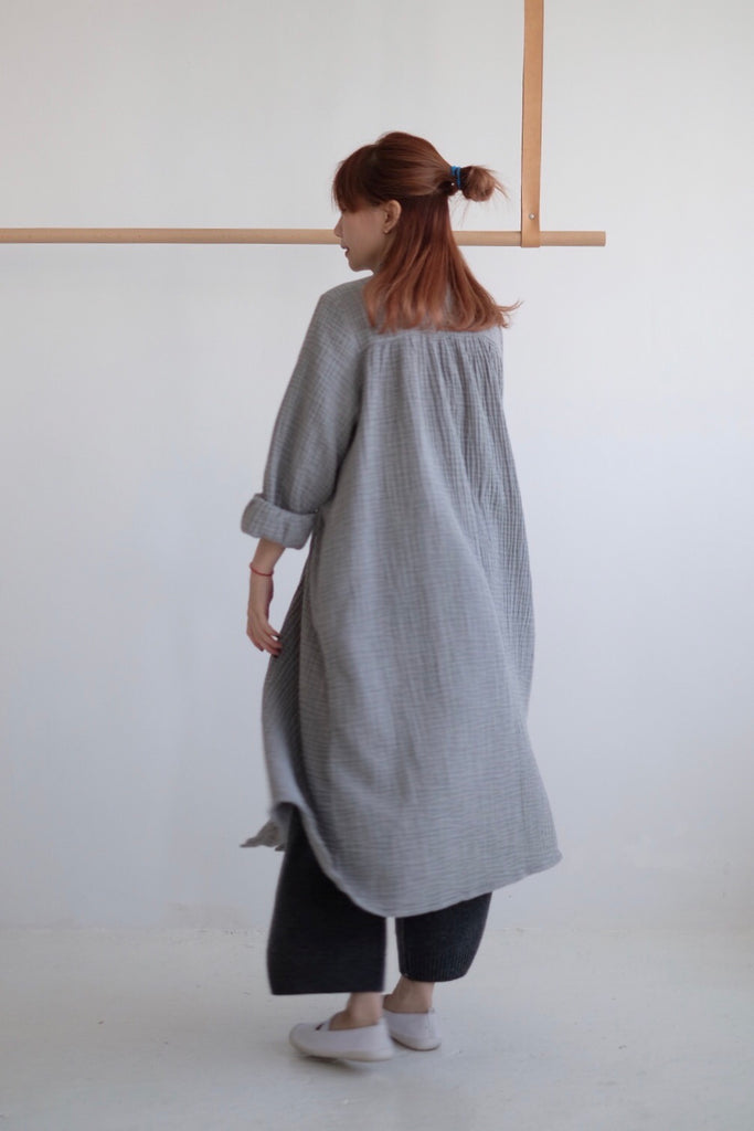 COTTON LINEN A-LINE DRESS