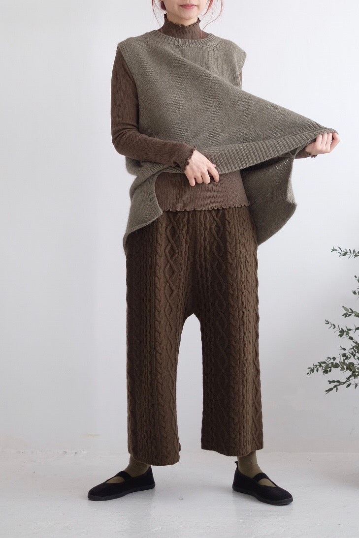 QUINN OLIVE KNITTED PANTS