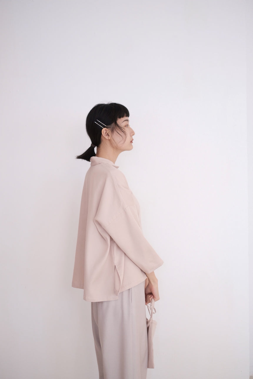 LAYLA BOX LONG SLEEVES BLOUSE (DUSTY PINK) PRE ORDER
