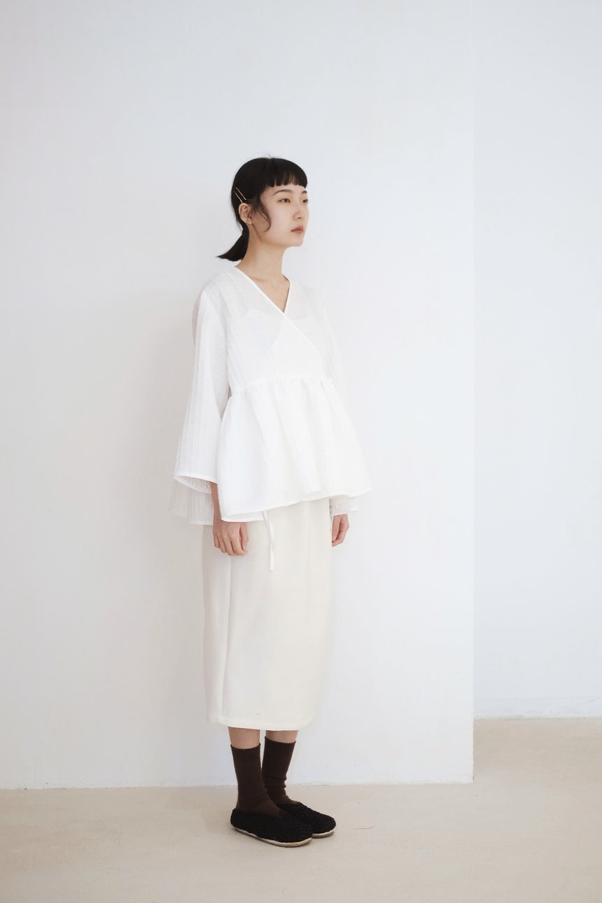 KĒKI LAYER BLOUSES WITH STRAPPING