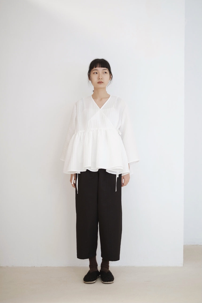 KĒKI LAYER BLOUSES WITH STRAPPING (PRE ORDER)