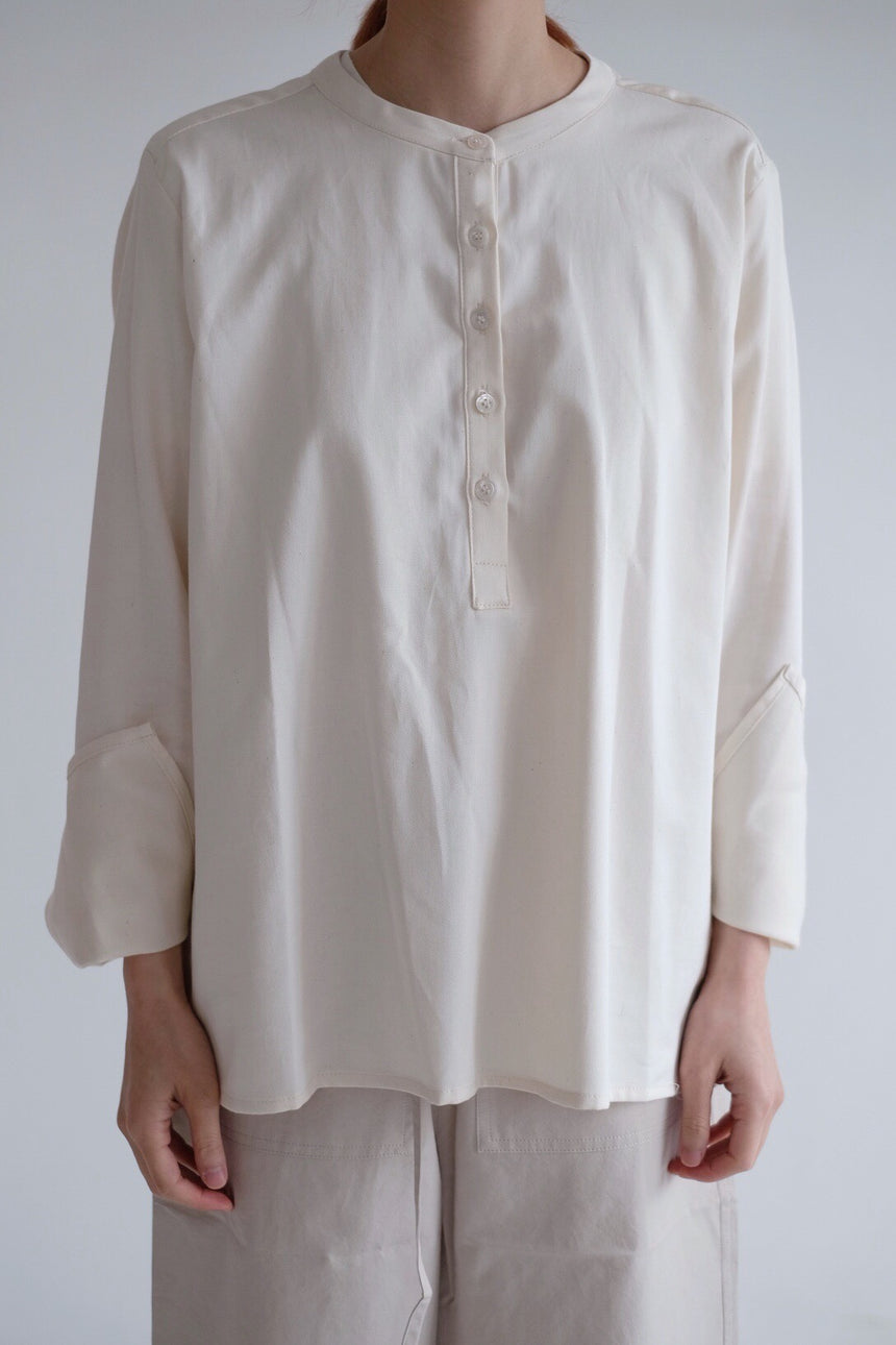 Cotton Father Collar Shirt