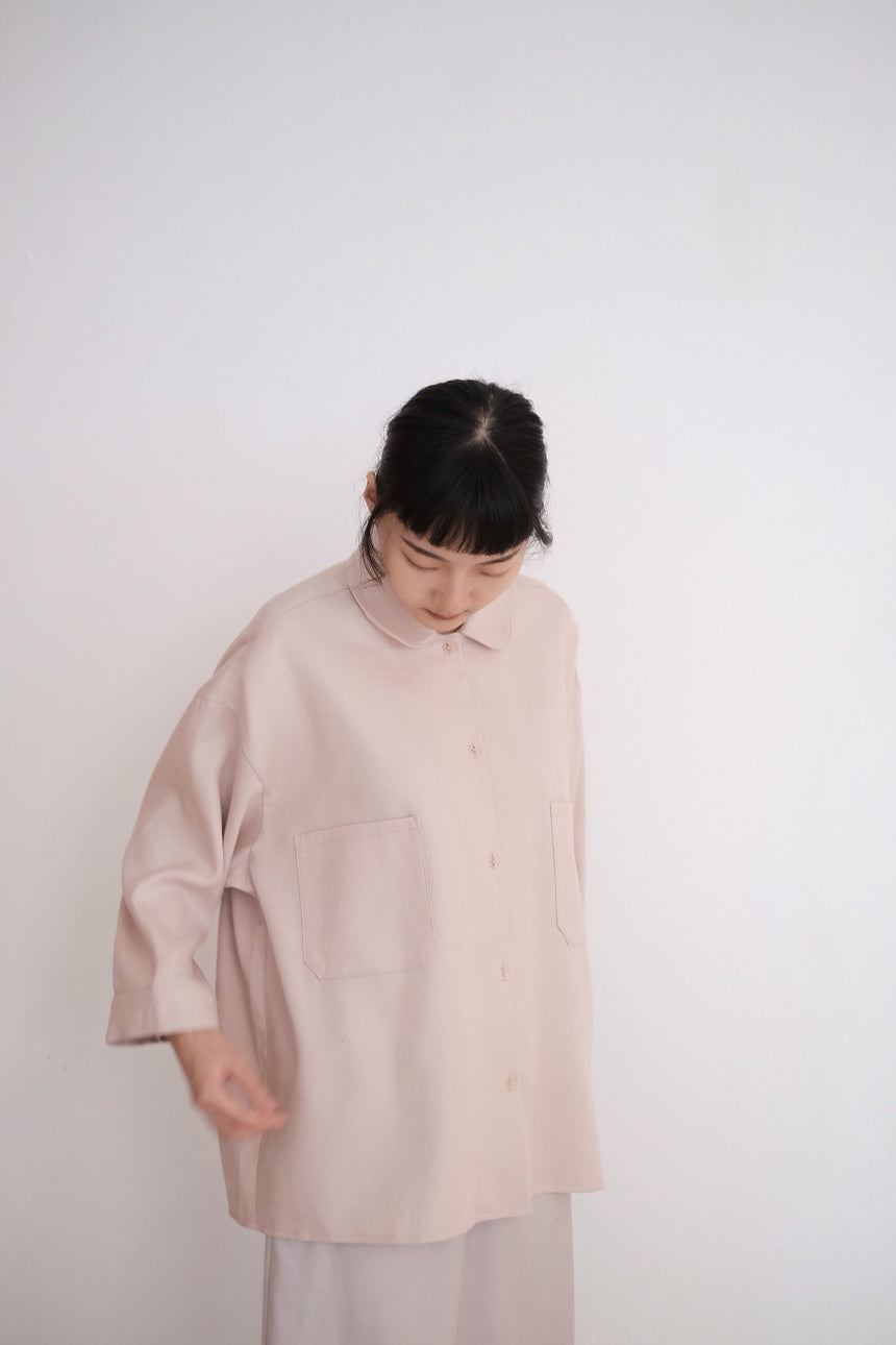 MELLOW OVERSIZED BLOUSE IN DUSTY PINK