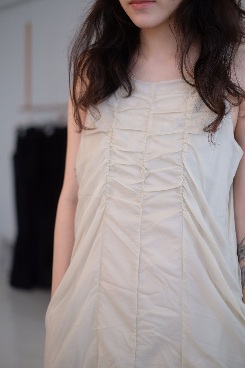 RUFFLES SLEEVELESS DRESS
