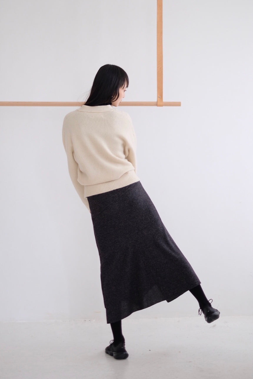 STRUCTURE KNIT SKIRT