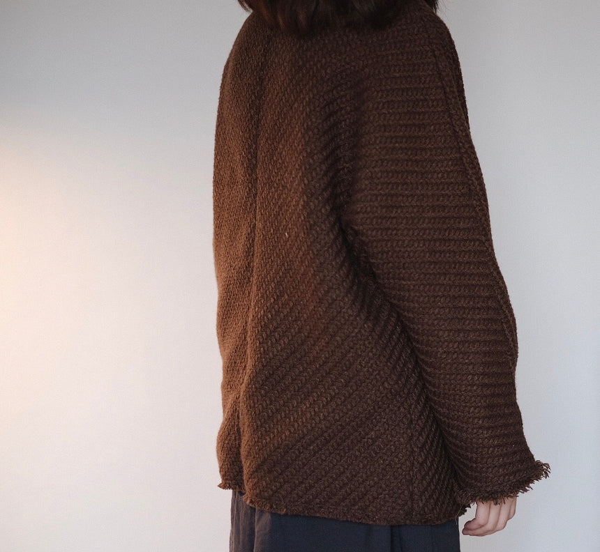 linen outer in brown