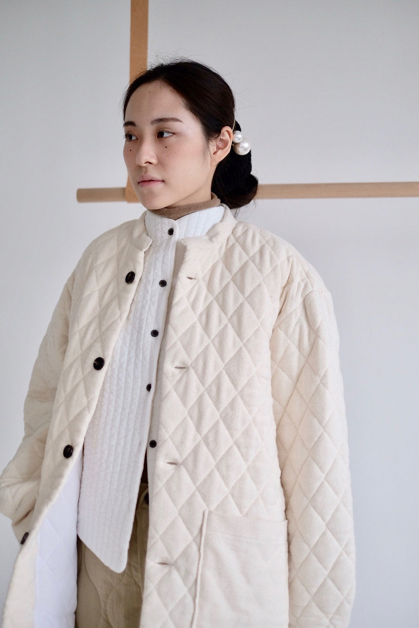 checkered Cotton Padded Jacket