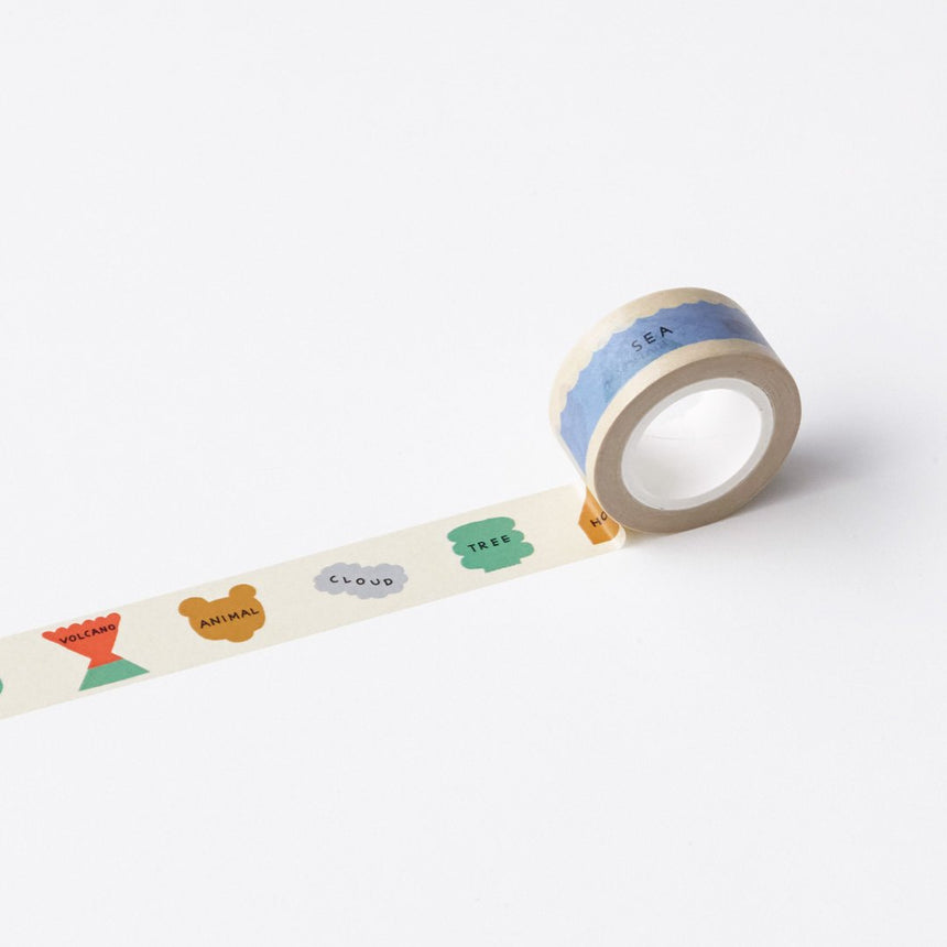 CIRCLE OF LIFE-BEIGE MASKING TAPE