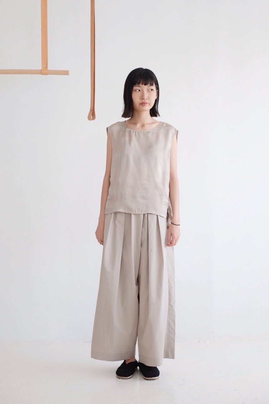 DROPPED PRESSFOLD WIDE-LEG TROUSERS