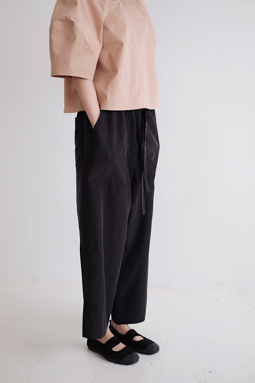 RELAXED WIDE-LEG PANTS (black)