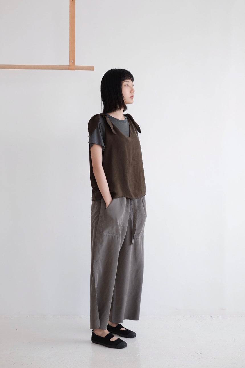RELAXED WIDE-LEG PANTS (olive)