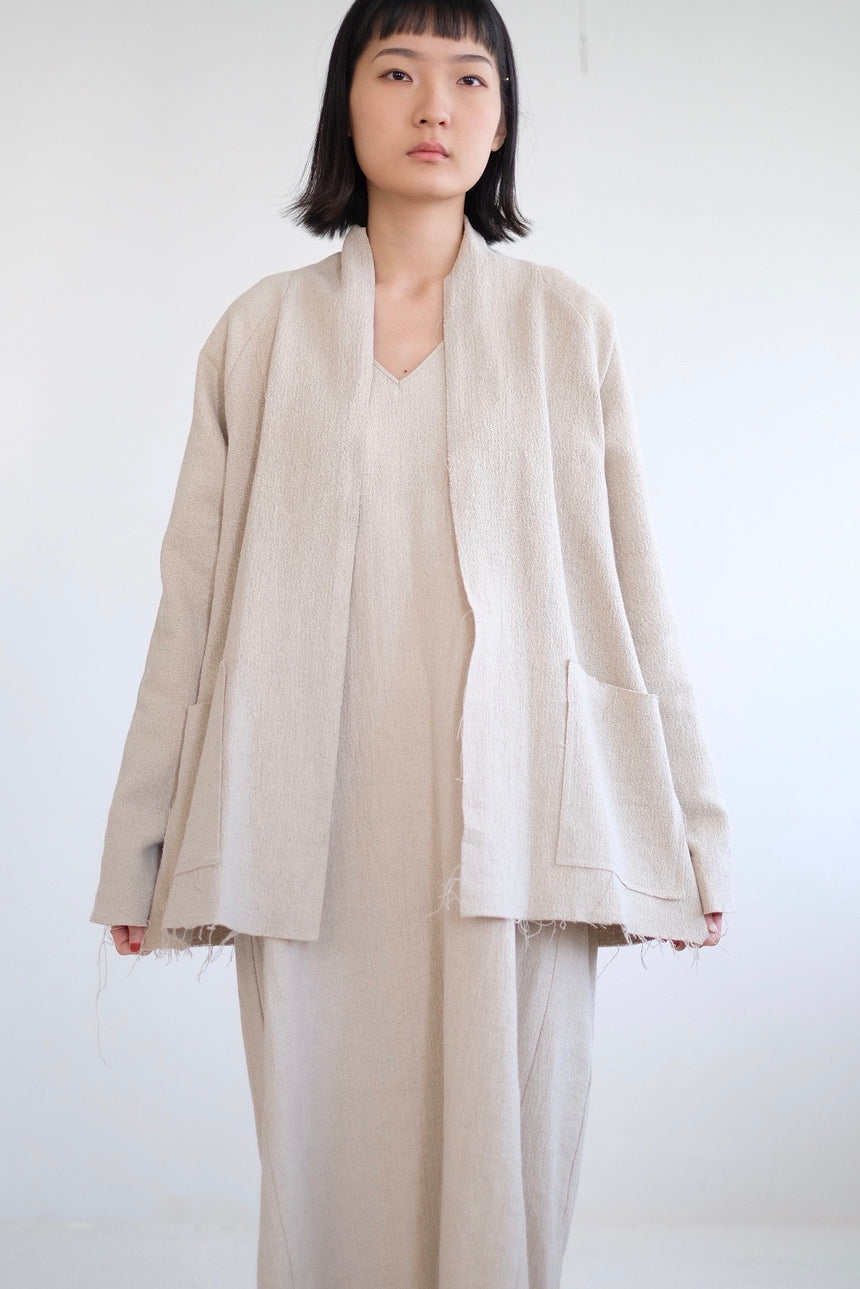 ARI LINEN JACKET(BEIGE) (HIGHLY RECOMMEND)