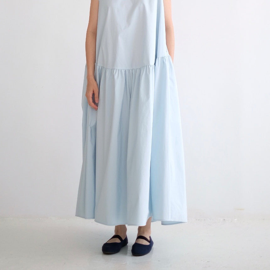 SLEEVELESS MILLET DRESS (BLUE)