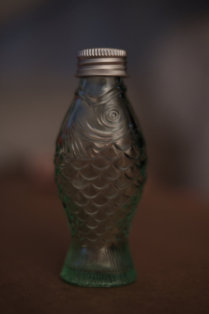 Bottle with Lid 50cc Transparent in Green