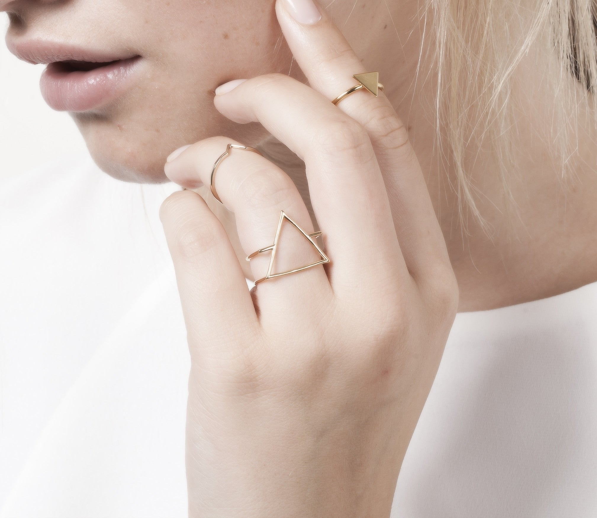 Bague Triangle Double