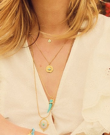 Collier Louise Griffe Turquoise