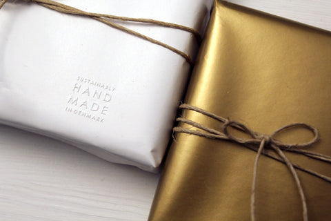 Free gold or white wrapping at M of Copenhagen