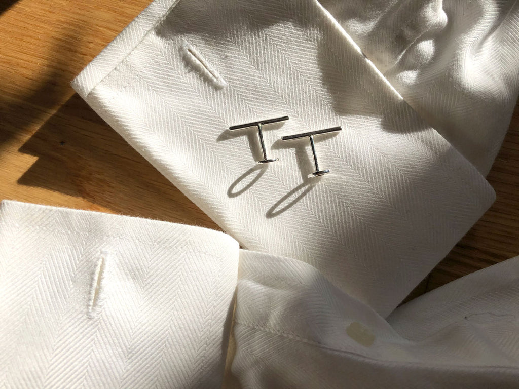 Continuum-cuff-links-on-shirt-flatlay-M-of-Copenhagen