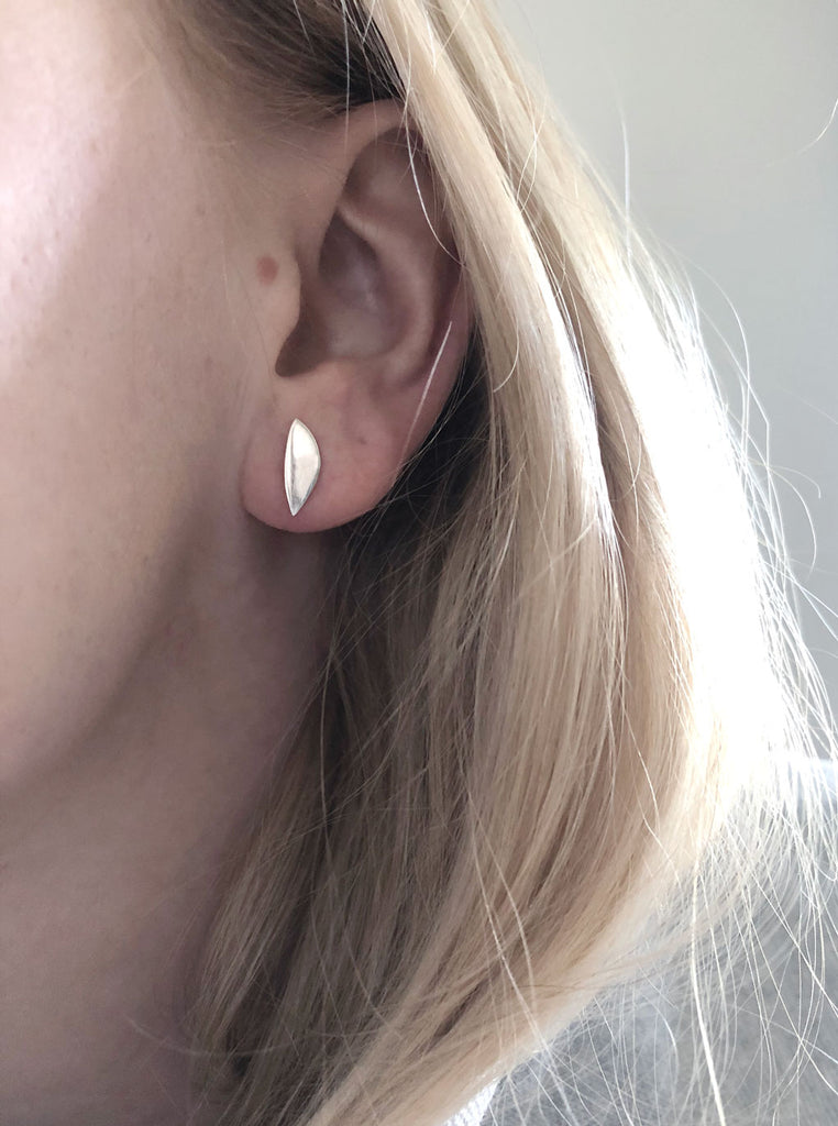 Eve Earrings on model up close by M of Copenhagen
