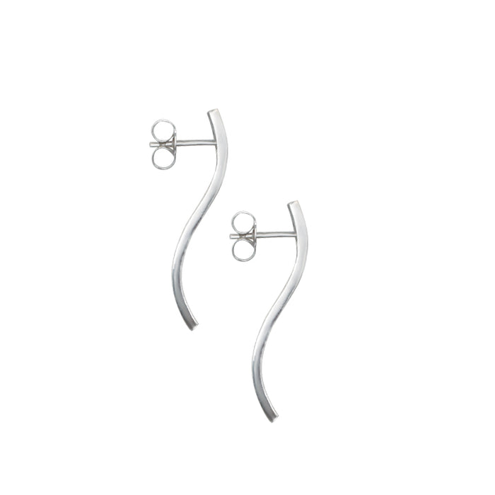 Everly S shaped earrings  by M of Copenhagen on white