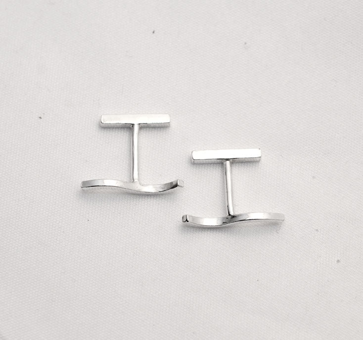 Ever wave cufflinks by eco jeweller M of Copenhagen