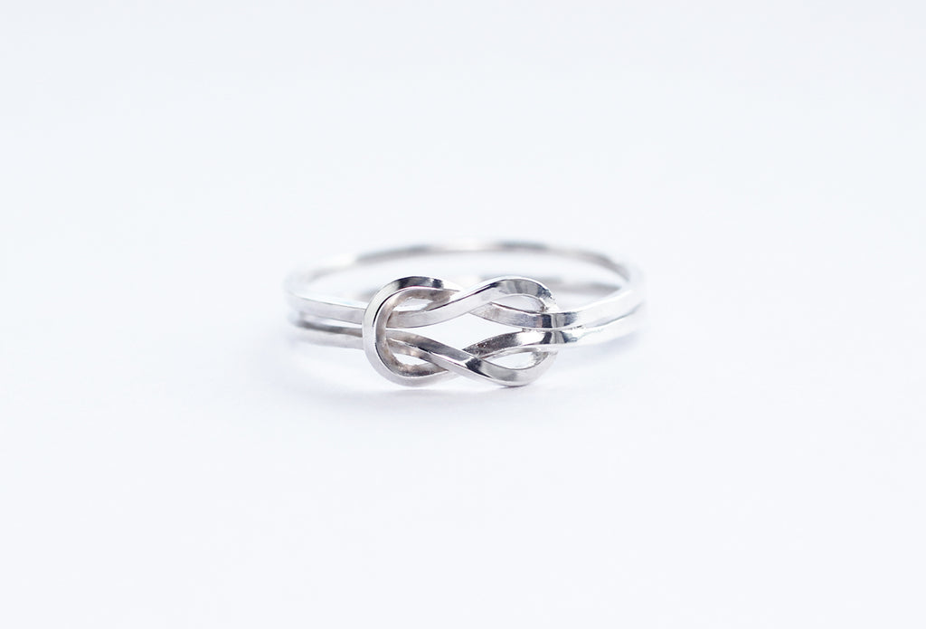 Evighet ring by M of Copenhagen shown from front on white background
