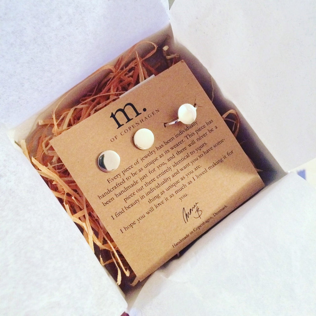 Moon set with ring and earrings from M of Copenhagen in packaging