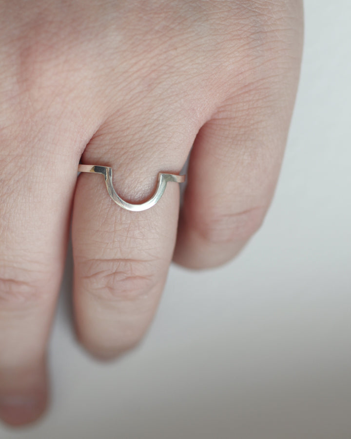 Mykonos ring by M of Copenhagen on models hand