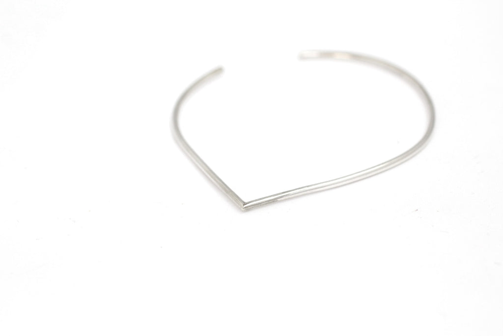 Portofino bangle by M of Copenhagen made with recycled silver on white background 2