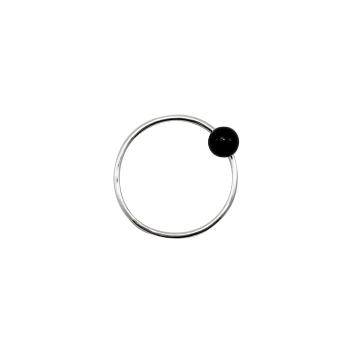 Positano ring by M of Copenhagen made with recycled silver and a natural onyx bead